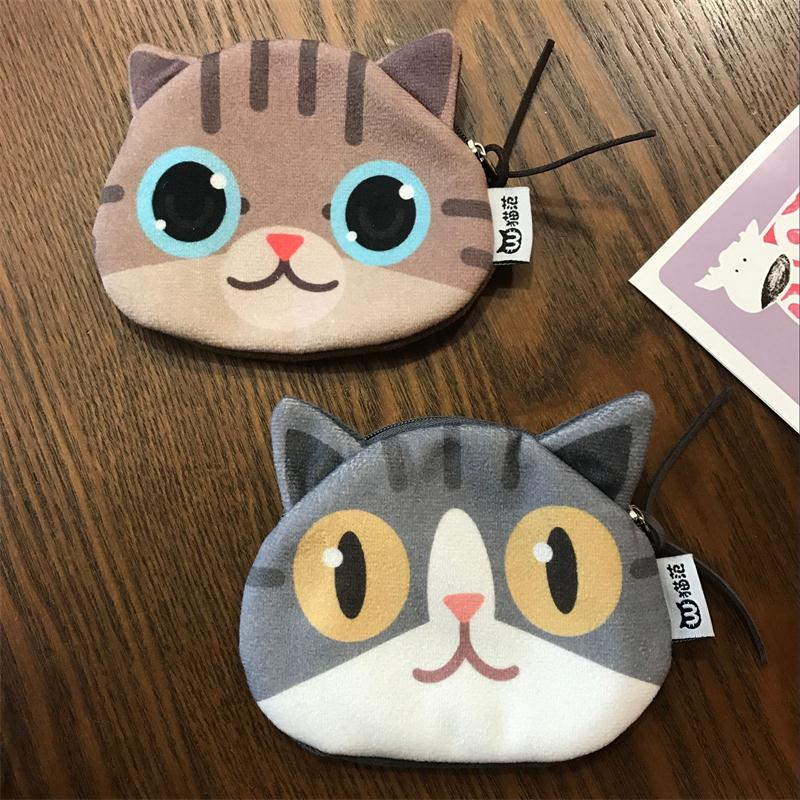 2017new coin purses wallet ladies 3D printing cats dogs animal big face  fashion cute small zipper bag for women mini coin purse