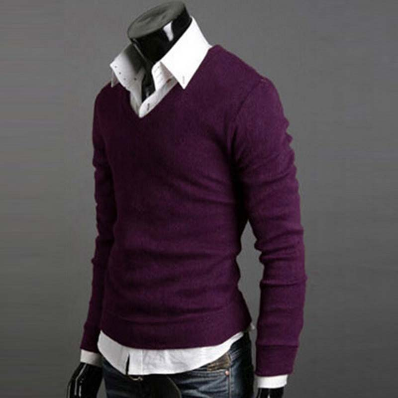 Man-Sweater-Autumn-Winter-Warm-Male-Knitwear-Long-Full-Sleeve-Pullover-V-Neck-Fit-Knitting-Guy (2)
