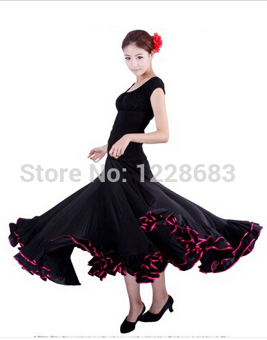 New 2016 Women Spanish Faldas De Baile Flamenco Dance Skirt Costume Bailar Flamenco Dresses For Girls