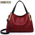 2017 Fashion PU Leather Tote Women Bag New Famous Hobos Ladies Handbags Elegant Autumn Women Shoulder Bags Bolsa Feminina Preta