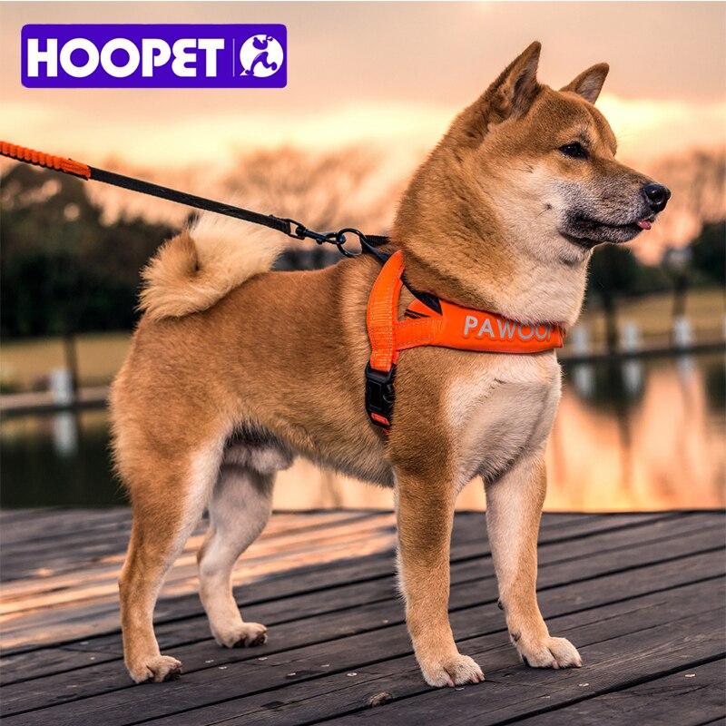 HOOPET Pet Dog Cat Sicurezza Cinghia Della Trazione Harness Collare Due Colori Guinzaglio Riflettente