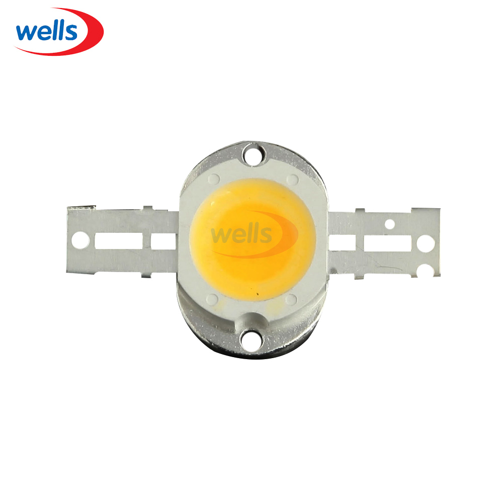 10W Round Base LED Warm White Bright High Power 900LM LED Chip 9-12V Bulb Lamp