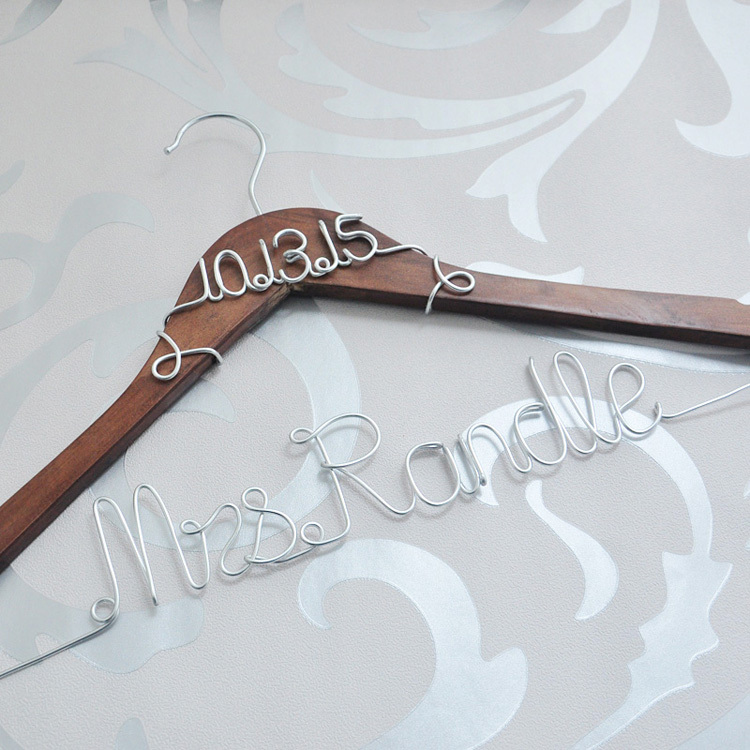 custom wedding hanger personalized bridal dress hanger