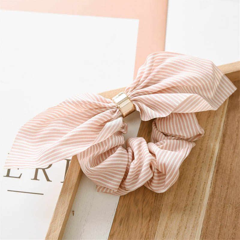Chiffon Circle Girls Adjustable Rabbit Ear 1PC Pink Black Navy Blue Round Women Elastic Hair Bands Headwear Hair Accessories