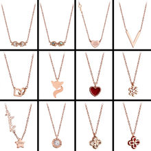 Stainless Steel Necklace Pendants For Women Collar Bohemian Choker Girl Gold jewelry(China)