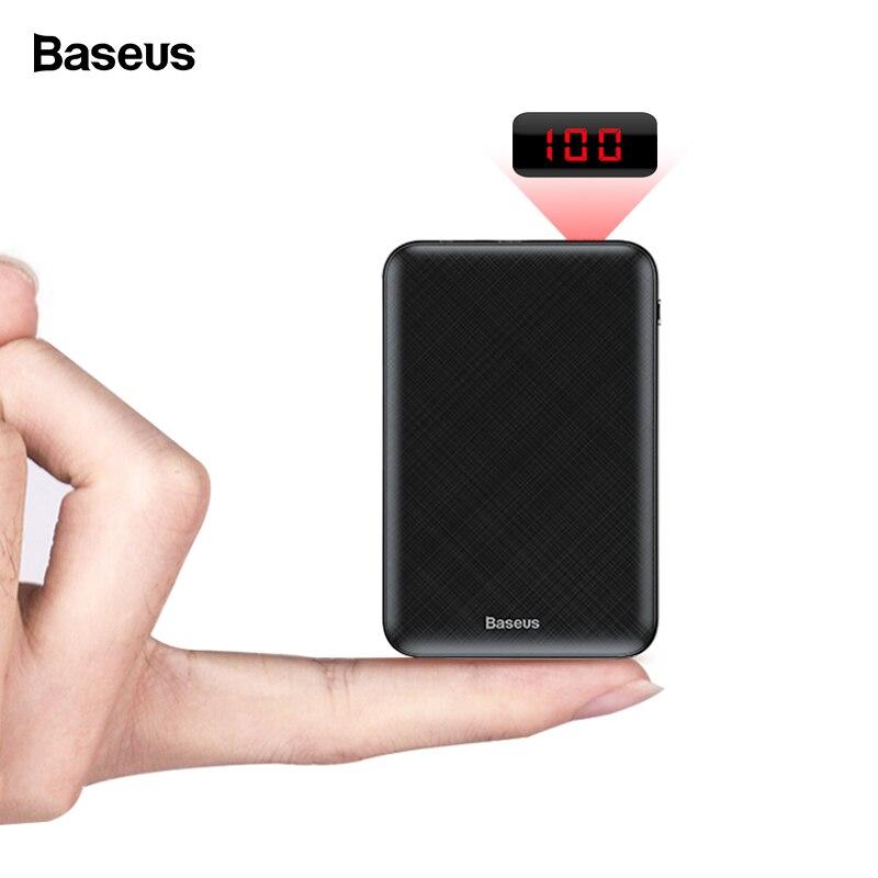 Baseus mi ni 10000 mAh banco de energía portátil de tipo C cargador de carga de 10000 banco de energía para iPhone Xiaomi mi batería externa poverbank