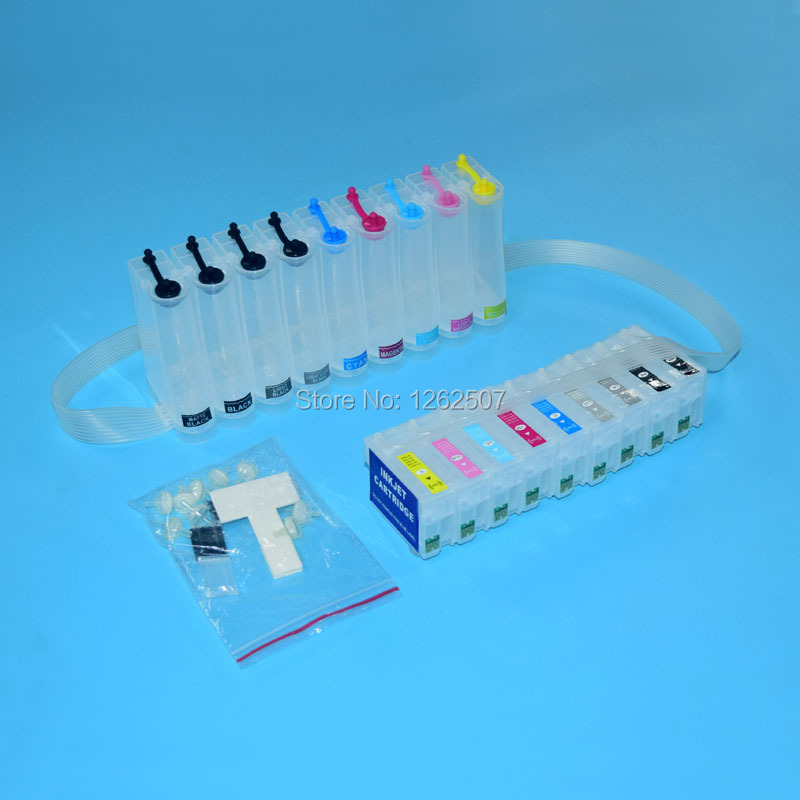 Free shipping!! Ciss ink system For Epson R3000 Ciss ink tank For Epson T1571 T1579 with auto reset chip