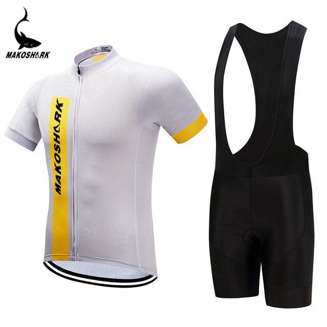 Summer Pro Cycling Jerseys Quick-Dry Riding Shirts And Gel Pad Bib Shorts  Set Cycling wear 9f9ef03d2