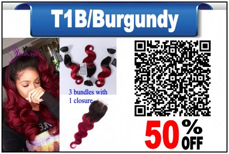 Brazilian-virgin-hair-3-Bundles-with-1-closure-Ombre-color-T1B-burgundy-Body-Wave-Brazilian-human_conew1