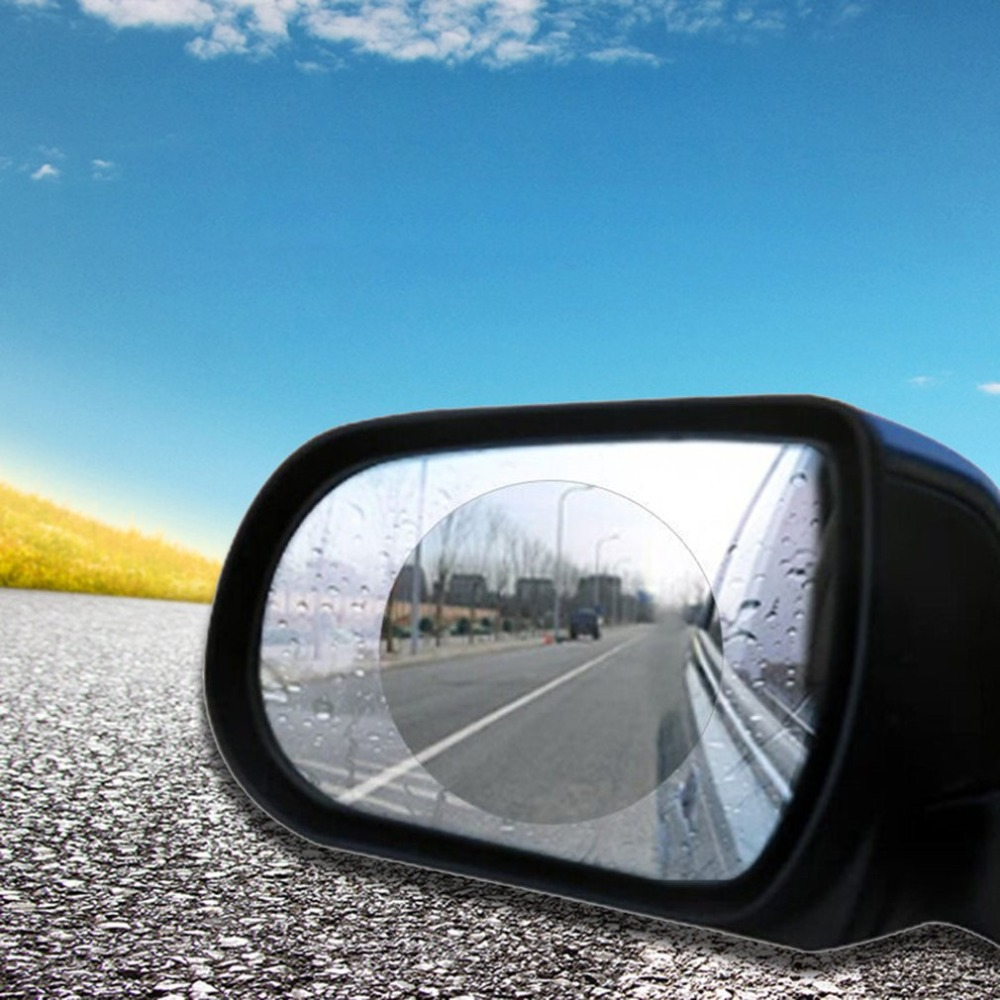 2 PCS Car Rearview Mirror Waterproof Membrane Anti-fog Rainproof Car Window Film Automobile Replacement Accessories Dropshipping 2pcs car rearview mirror waterproof membrane transparent clear film sticker film for cars see more clearly on rainy days safer
