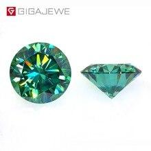 GIGAJEWE GEMA de diamante de laboratorio, piedra suelta de laboratorio de corte redondo verde oscuro, 1,0 CT, para joyería DIY, regalo de novia