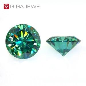 Image 1 - Камни GIGAJEWE с муассанитом карат, круглый темно зеленый лабораторный бриллиантовый камень для самостоятельного изготовления ювелирных изделий, подарок для девушки