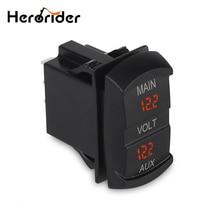 12-24V Car Boat Motorcycle LED Digital Dual Volt Meters AUX Main Battery Monitor Voltage Gauge Auto Panel Voltmeter Tester