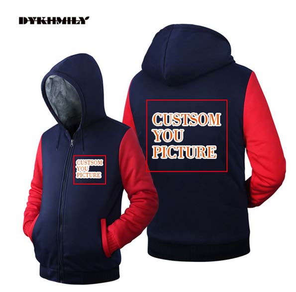 f3db7198c57 2019 Dykhmily Turn Down Collar Custom Your Design Coat Fleece Zipper ...