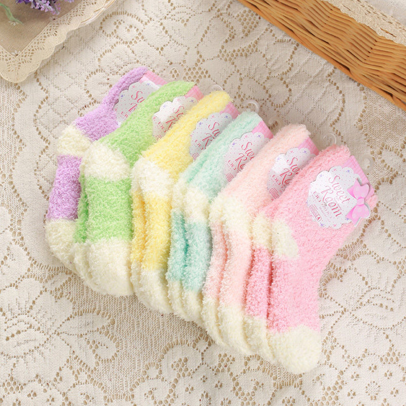 5pairs-1-lot-winter-to-keep-warm-coral-fleece-Fashion-able-sweet-candy-colors-baby-socks (5)