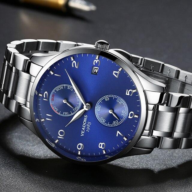bfc68305fb7 Luxo Masculino Negócio Relógio de Pulso Dos Homens Relógios De Grife  Relógios Masculinos de Luxo Papel