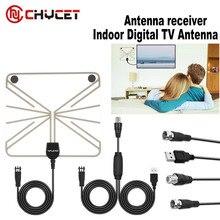 Pictek усиленный Крытый hd Телевизионные антенны 25 миль диапазон цифровой Телевизионные антенны сигнала Усилитель Booster 10FT Long Range кабель Телевизионные антенны tv
