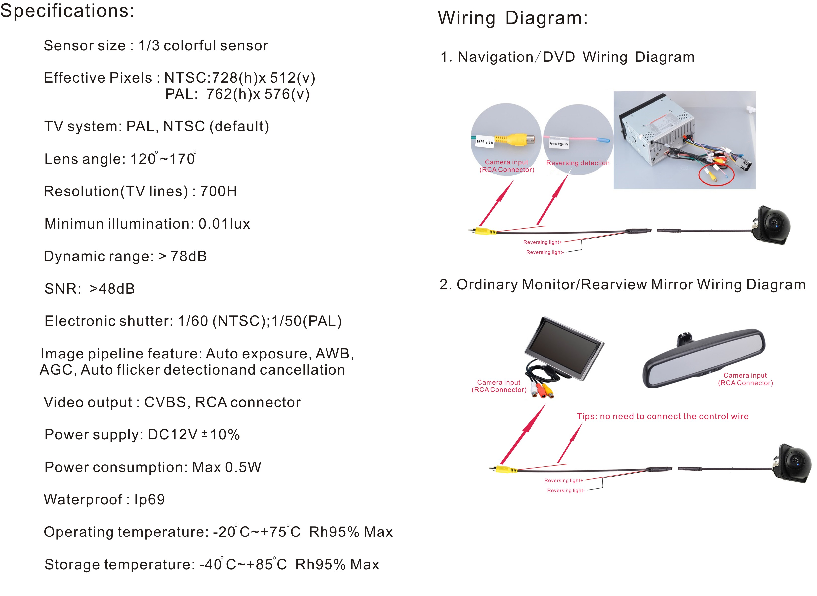 Dodge Ram Backup Camera Wiring Diagram Tailgate Connector from ae01.alicdn.com