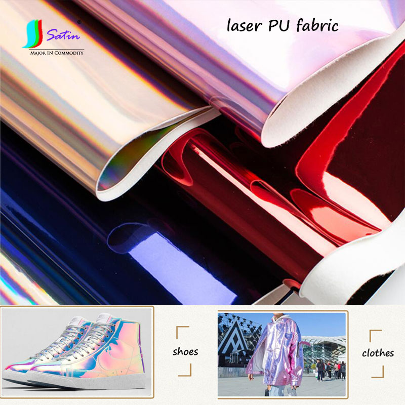 Fabric Arts,crafts & Sewing Tireless Colorful Laser Pu Fabric,shoes Clothes Diy Background Decoration Material Thicking Soft Reflective Leather Fabric A0025l Unequal In Performance