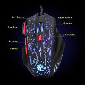 Image 5 - Rocketek usb optical wired gaming mouse 7 key 5500DPI Adjustable 7 color LED lights for Desktop computer/laptop/gamer/Home