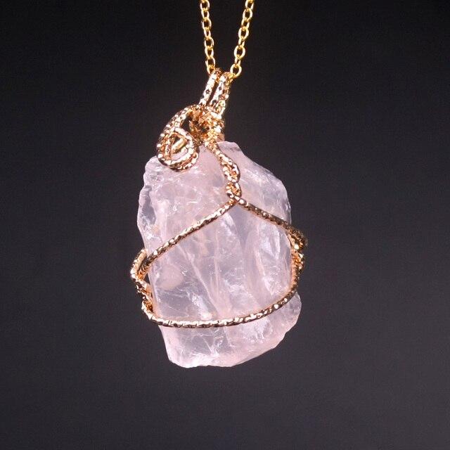 Handmade Twining Irregular Natural Stone Pendant 4