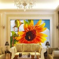 3d Wallpaper Mural Art Decor Picture Backdrop Modern Paintings Sunflower Hotel Living Room Restaurant Wall Painting
