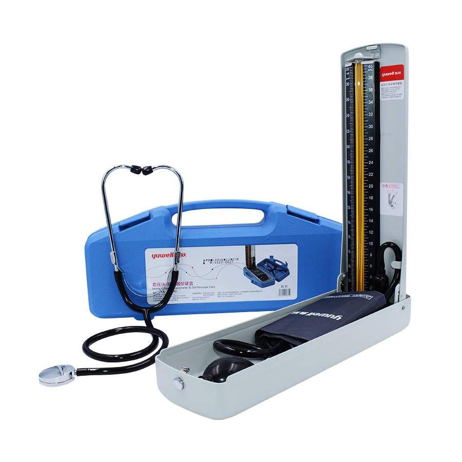 Yuwell Ртутный Сфигмоманометр профессиональное медицинское оборудование дома здоровья крови Давление монитор стетоскоп ЭКГ плода