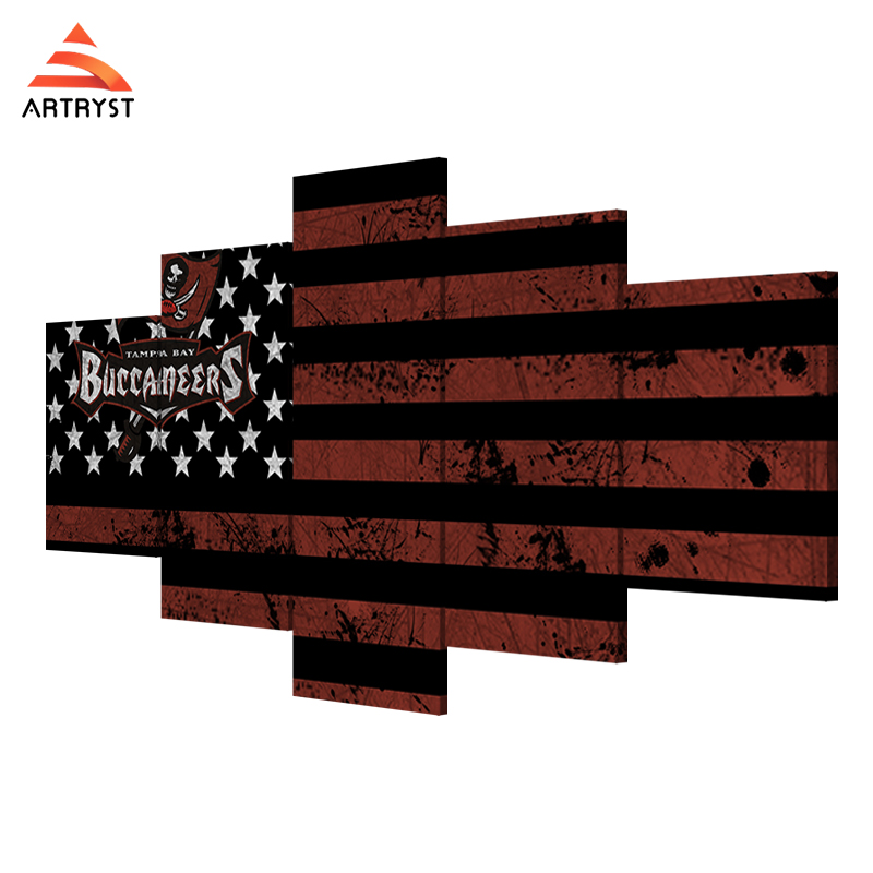 Artryst Home Decor Art Wall Usa Football Tampa Bay Pirate Flag Picture Printed On Canvas