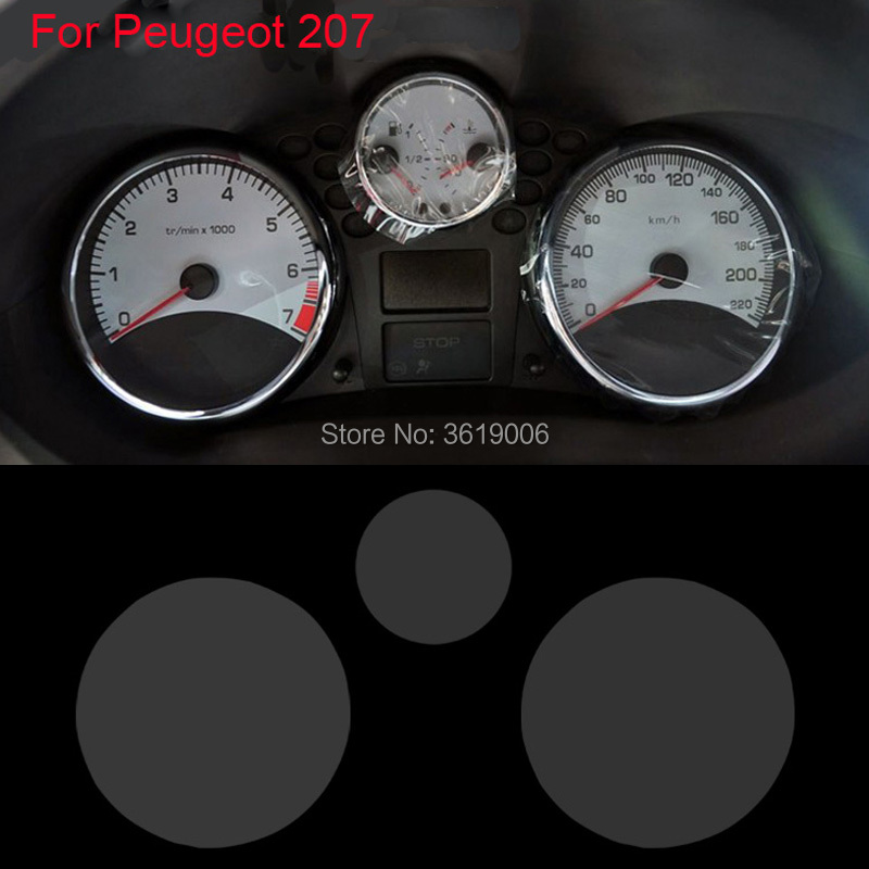 TOMMIA For Peugeot 207 2009-13 Screen Protector HD 4H Dashboard Protection Film Anti-scratches Car Sticker