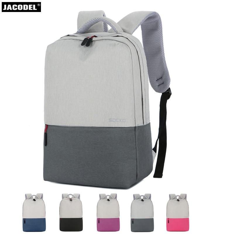 Jacodel 15.6 cahier pochette d'ordinateur pour 13.3 14 15.6 pouces Latop sac à dos pour adolescent voyage ordinateur sac femmes mâle sac pour Macbook