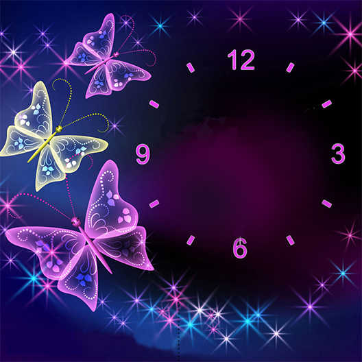 57X57cm DIY Full Drill Diamond Painting Cross Stitch Butterfly clock Printed Draw Picture Round Rhinestones Embroidery