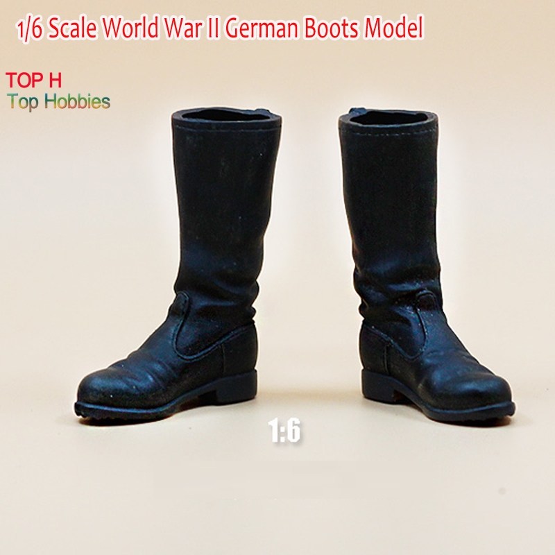 1/6 Scale World War II German Army Boots Model Black For 12 Soldier Figure world war 1