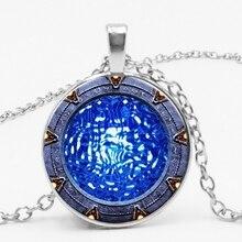 3 Color Fashion Atlantis Springs Pendant Necklace Glass Gem Accessories To Map Custom