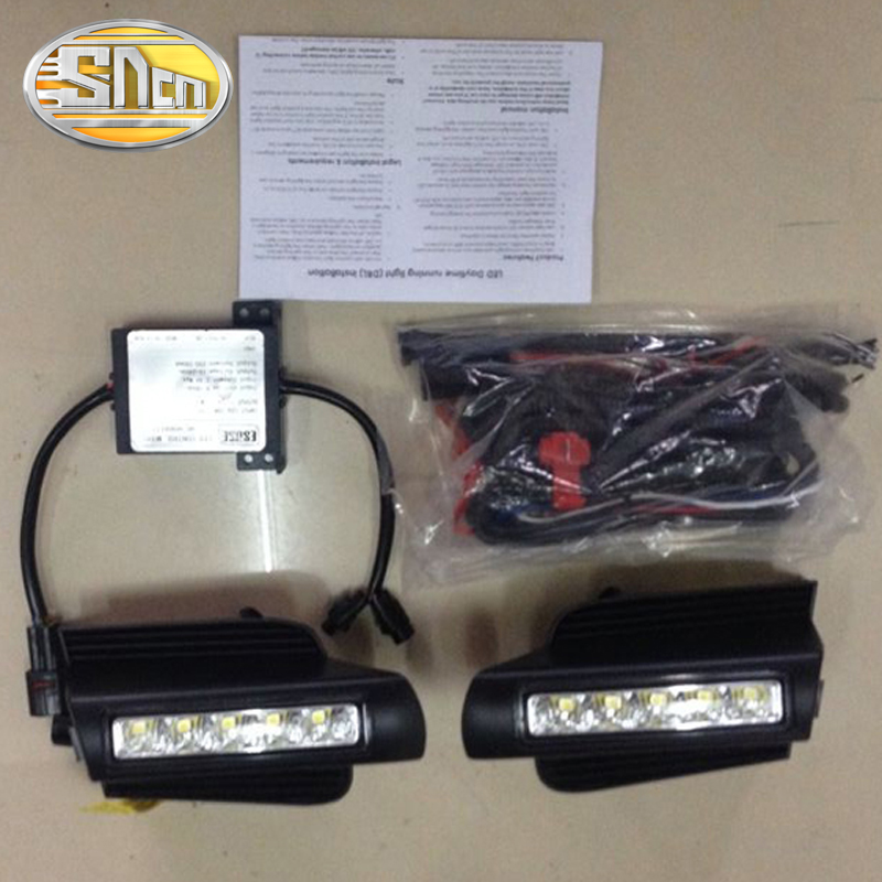 SNCN LED Daytime Running Light For Toyota Prado 120 FJ120 2003 - 2009,Car Accessories Waterproof ABS 12V DRL Fog Lamp Decoration купить