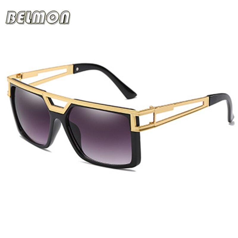 BELMON Sonnenbrille Männer Frauen Mode Luxus Marke Designer Quadrat Sonne Gläser Für Männlich-weibliche UV400 Shades Oculos de sol RS812