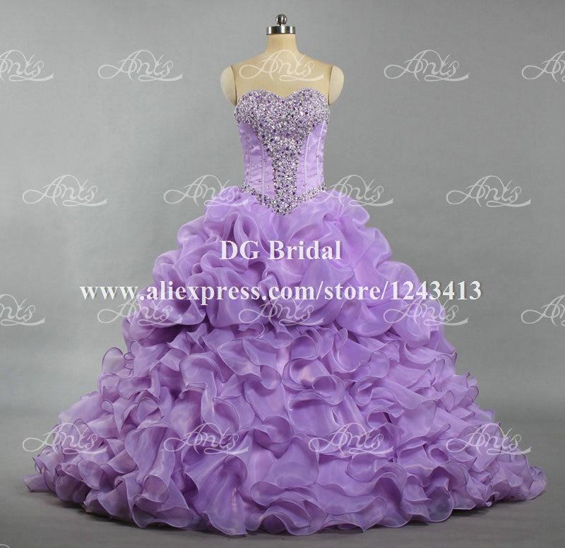 Vestidos de debutantes 2 em 1 lilas