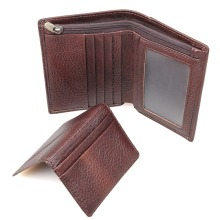 Tanned Leather Wallet RFID Blocking Credit Card Holder Billfolds R-8142-2C