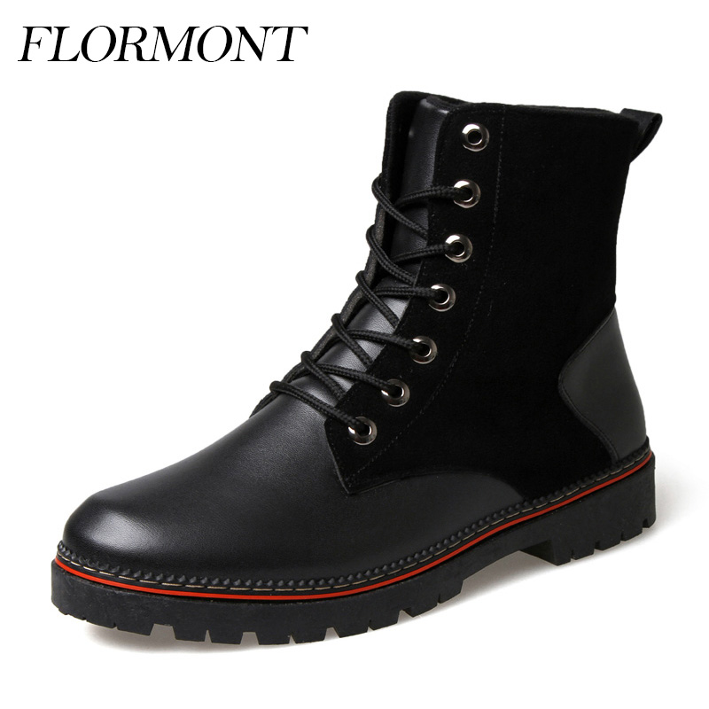 Spring Men Boots Genuine Leather Waterproof Ankle Martin Fashion Boots Male Outdoor Snow Shoes Men Military