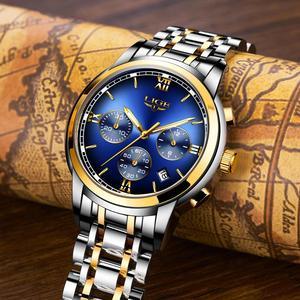 Image 3 - Montre Homme zegarek mężczyźni luksusowa marka LIGE Chronograph mężczyźni Sport zegarek wodoodporny pełna stal kwarcowy mężczyźni zegarki Relogio Masculino