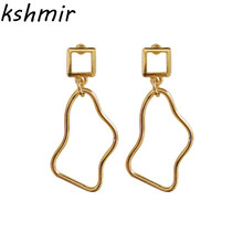 Geometrical irregular earrings metal temperament female fashion stud wholesale