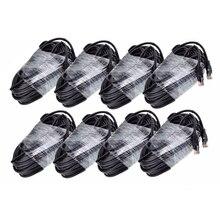 Gadinan 8 шт. RJ45 CAT5E CAT5 LAN Ethernet сетевой кабель черный 20 м 60 футов Специальный для IP PoE камеры комплект