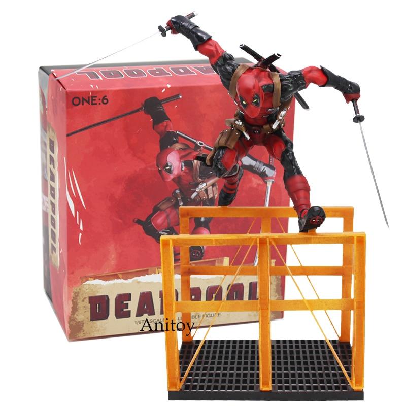 Crazy Toys Deadpool 2 1/6th Scale Statue PVC Figure Collectible Model Toy 40cm цена