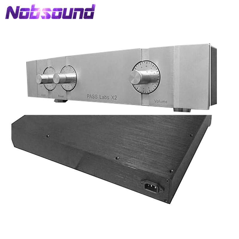 Nobsound Preamplifier Chassis DIY Aluminum Case Pre Amp Enclosure Shell W430*H90*D308mm