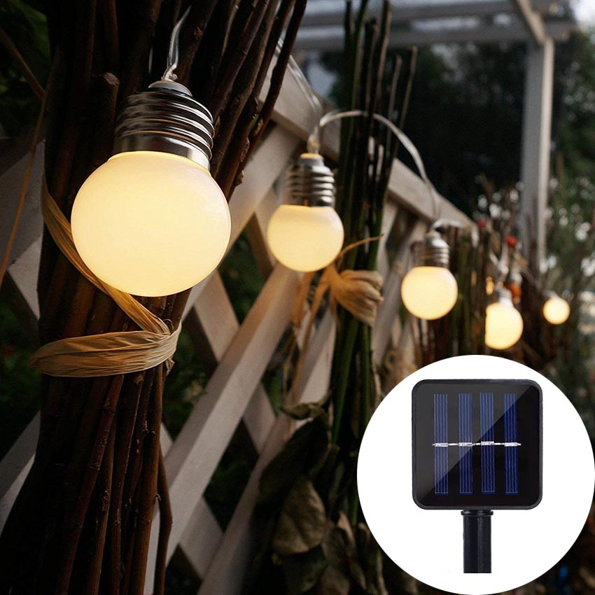 Solar Globe String Lights G50 10/20/30 LED Outdoor Waterproof Garden Christmas Ball string Fairy light for Home Party Wedding 30pcs lots mini sas 4i sff 8484 sas 32p to sff 8088 26p cable 1 0m external to internal free shipping by fedex