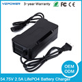 15S 54.75V 2.5A Smart LifePO4 Battery Charger for 48V Life PO4 Battery Pack Electric Power Tool