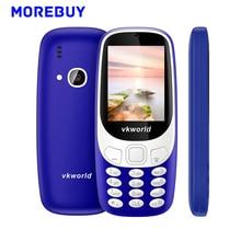 D'origine Vkworld Z3310 3D Écran 2.4 Pouce Mobile Téléphones Dual SIM carte FM Radio LED Forte Lumière Aîné Téléphone 2MP 1450 mAh 240*320