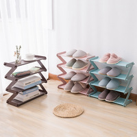 Creative Simple Multi Layer Simple Assembly Shoe Rack Shoes Organizers Multi Functional Storage Household Shoe Storage Products