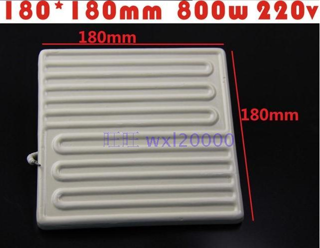 Factory shipping heating plate far infrared ceramic heating brick BGA rework station dedicated 180*180MM 800W IR-9000 6000 6500 free shipping bga rework station 240 60 220v far infrared heating panels heat tiles white ceramic heating plate heating plate
