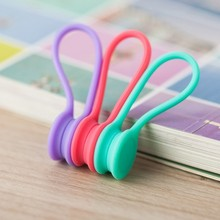 18PCS/lot New Silicone Magnet coil earphone cable winder headset type bobbin winder hubs cord holder Cable Wire Organizer