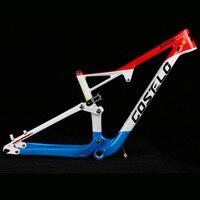 Costelo 29er полный подвесная карбоновая рама углерода MTB рамки 29er горный велосипед 142*12 мм через ось 165*38 путешествия